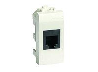 DKC / ДКС 76644B Телефонная розетка RJ-11 (комплектуется модулем AMP, код 406375-2), белый RAL 9010,