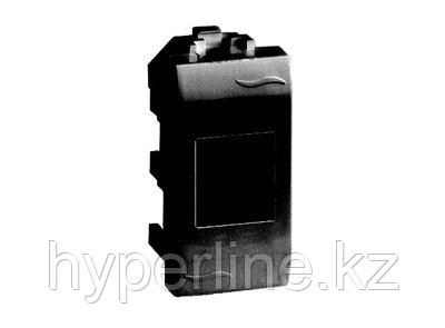DKC / ДКС 77644N Телефонная розетка RJ-11 (комплектуется модулем AMP, код 406375-2), черный RAL 7016,