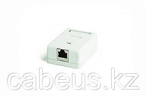 Hyperline SB2-1-8P8C-C5e-SH-WH Розетка компьютерная RJ-45(8P8C), категория 5e, экранированная, одинарная,