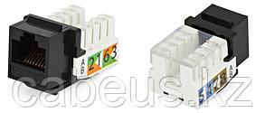 Hyperline KJ2-8P8C-C5e-90-BK Вставка Keystone Jack RJ-45(8P8C), категория 5e, Dual IDC, черная