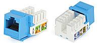 Hyperline KJ2-8P8C-C5e-90-BL Вставка Keystone Jack RJ-45(8P8C), категория 5e, Dual IDC, синяя