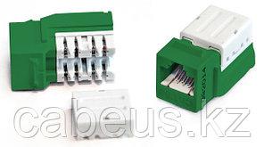 Hyperline KJNE-8P8C-C5e-90-GN Вставка Keystone Jack RJ-45(8P8C), категория 5e, 110 IDC, заделка с помощью