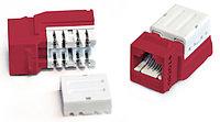Hyperline KJNE-8P8C-C5e-90-RD Вставка Keystone Jack RJ-45(8P8C), категория 5e, 110 IDC, заделка с помощью