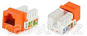 Hyperline KJ2-8P8C-C5e-90-OR Вставка Keystone Jack RJ-45(8P8C), категория 5e, Dual IDC, оранжевая