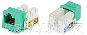 Hyperline KJ2-8P8C-C5e-90-GN Вставка Keystone Jack RJ-45(8P8C), категория 5e, Dual IDC, зеленая