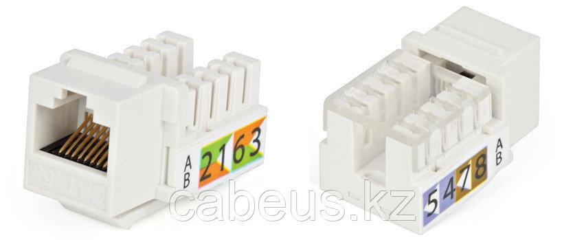 Hyperline KJ2-8P8C-C5e-90-GY Вставка Keystone Jack RJ-45(8P8C), категория 5e, Dual IDC, серая