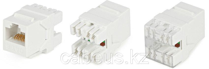 Hyperline KJ5-8P8C-C6-180-WH (High-Bandwidth applications) Вставка Keystone Jack RJ-45(8P8C), категория 6, тип