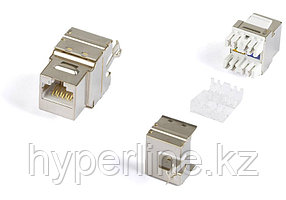Hyperline KJ5-8P8C-C6-180-SH-F-WH (High-Bandwidth applications) Вставка Keystone Jack RJ-45(8P8C), категория