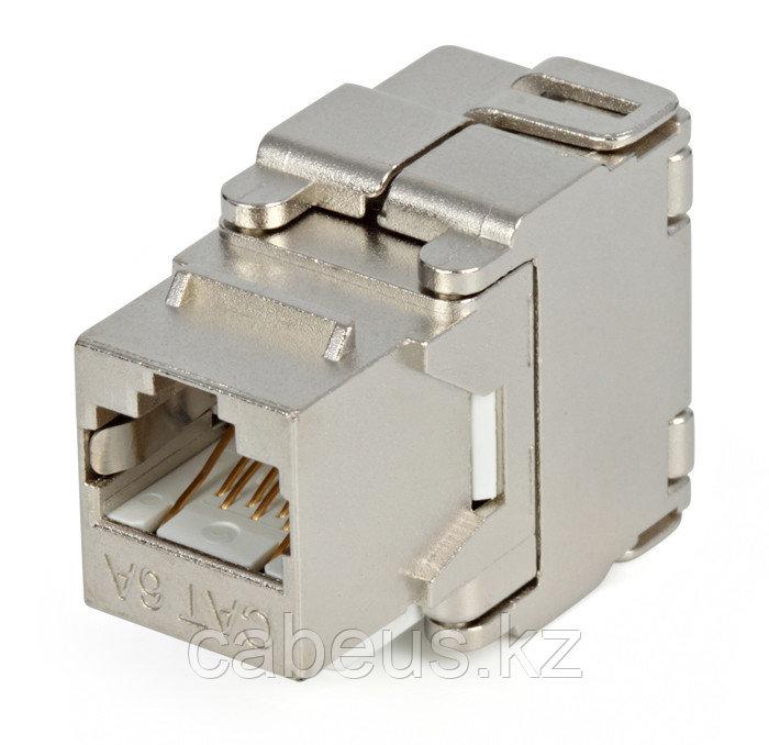 Hyperline KJ2-8P8C-C6A-180-SH-F-WH Вставка Keystone Jack RJ-45(8P8C), категория 6a (10G), экранированная,