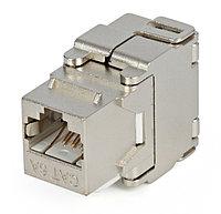 Hyperline KJ2-8P8C-C6A-180-SH-F-WH Вставка Keystone Jack RJ-45(8P8C), категория 6a (10G), экранированная,, фото 1