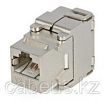 Hyperline KJ2-8P8C-C6A-180-SH-F-WH Вставка Keystone Jack RJ-45(8P8C), категория 6a (10G), экранированная, Toolless, белая