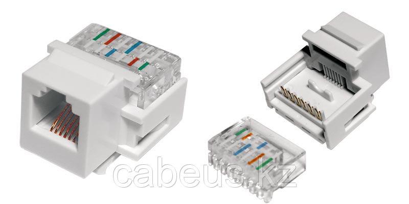 Hyperline KJ1-6P6C-C2-90-WH Вставка Keystone Jack, RJ-12(6P6C), IDC(Toolless)