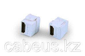 Hyperline KJ1-HDMI-AS18-WH Вставка формата Keystone Jack с проходным адаптером HDMI (Type A), short body (18.2