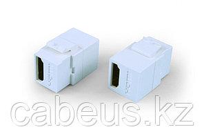 Hyperline KJ1-HDMI-AL18-WH Вставка формата Keystone Jack с проходным адаптером HDMI (Type A), long body (29.7