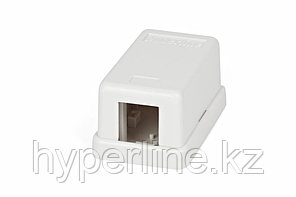 Hyperline SBB1-1-WH Корпус настенной розетки для установки 1-ой вставки типа Keystone Jack, белый