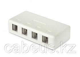 Hyperline SBB1-4-WH Корпус настенной розетки для установки 4-х вставок типа Keystone Jack, белый