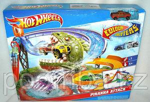 "Треки для машинок Hot Wheels. Трек ""Пиранья"". Hot Wheels Colour Shifters Piranha Attack Playset"