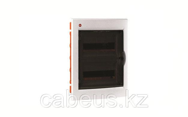 DKC / ДКС 81724 Щиток встраиваемый 2 ряда, 24(2x12) модуля, с прозрачной дверцей, с усиленным клеммным блоком