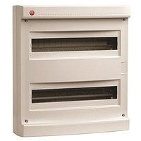 DKC / ДКС 83636 Щиток настенный 2 ряда, 36(2X18) модулей, без дверцы, без клеммных колодок, IP40, цвет серый