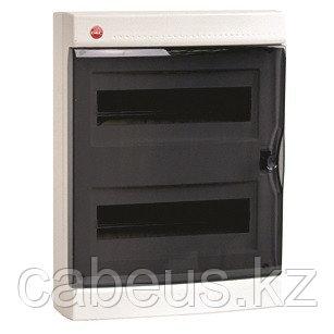 DKC / ДКС 84924 Щиток настенный 2 ряда, 24(2x12) модуля, с прозрачной дверцей и замком, с клеммным блоком