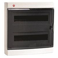 DKC / ДКС 84936 Щиток настенный 2 ряда, 36(2x18) модулей, с прозрачной дверцей и замком, с клеммным блоком