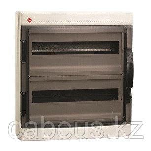 DKC / ДКС 85724 Щиток настенный 2 ряда, 24(2X12) модуля, с прозрачной дверцей, с усиленным клеммным блоком