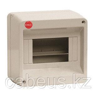 DKC / ДКС 83608 Щиток настенный 1 ряд, 8 модулей, без дверцы, без клеммных колодок, IP40, цвет серый RAL 7035