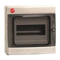 DKC / ДКС 85608 Щиток настенный 1 ряд, 8 модулей, с прозрачной дверцей, без клеммных колодок, IP65, цвет серый