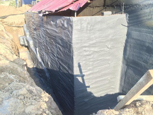 Утепление и гидроизоляция фундамента (ппу и полимочевина) в Алматы -1