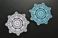 Вырубка из бумаги Салфетка Crochet Doily