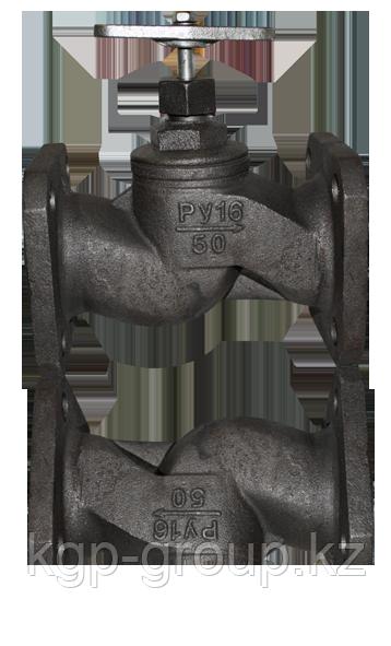 Клапаны (вентили) запорные чугунные фланцевый 15ч19п Ру16  Ду65 15кг/9п