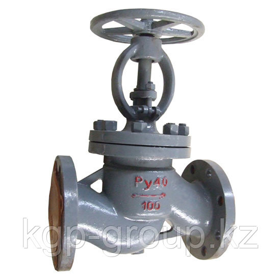 Клапаны (вентили) запорные стальной фланцевый Ру16 15с65нж Ду100