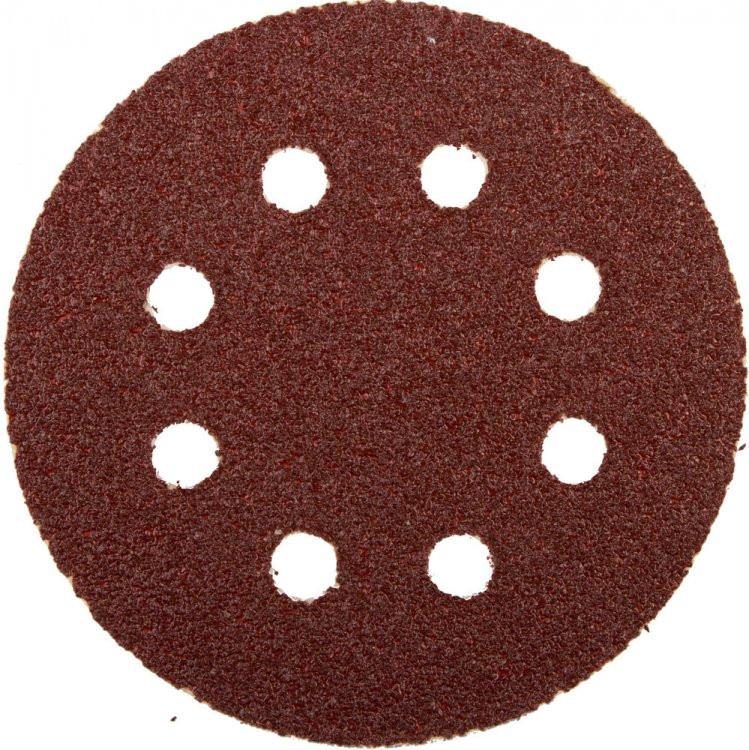 """(35562-125-040) Круг шлифовальный ЗУБР """"МАСТЕР"""" универсальный, из абразивной бумаги на велкро основе."""