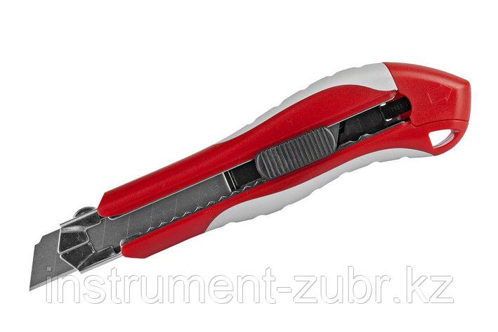 """Нож ЗУБР """"ЭКСПЕРТ"""" с запасными сегментированными лезвиями 6шт, 18мм                                                     , фото 2"""