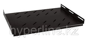 Hyperline TSHH-865-RAL9004 Полка глубиной 650 мм для шкафов с глубиной от 800 мм (до 150 кг), цвет черный (RAL