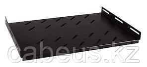 Hyperline TSHH-645-RAL9004 Полка глубиной 450 мм для шкафов с глубиной от 600 мм (до 150 кг), цвет черный (RAL