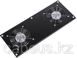 Hyperline TFAT-TC600-2-RAL9004 Модуль вентиляторный потолочный с 2-я вентиляторами для установки в напольные