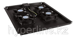 Hyperline TFAT-TC1000-6-RAL9004 Модуль вентиляторный потолочный с 6-ю вентиляторами для установки в напольные