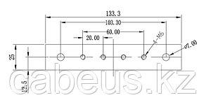 Hyperline TGRY-SET Комплект заземления для шкафов (шина заземления+винты)