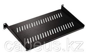 """Hyperline SRVA-150-RAL9005 Полка угловая 19"""" 1U с глубиной 150 мм (до 30 кг), цвет черный (RAL 9005)"""