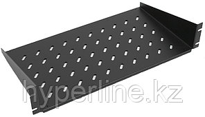 ZPAS WZ-SB00-49-04-161 Полка угловая 2U x 446 x 350 мм (до 25 кг), цвет черный (RAL 9005)