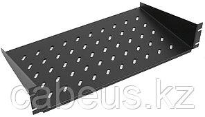 ZPAS WZ-SB00-49-03-161 Полка угловая 2U x 446 x 450 мм (до 25 кг), цвет черный (RAL 9005)