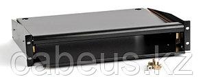Hyperline TMKP-220-RAL9004 Выдвижная полка для клавиатуры с панелью для мыши, цвет черный (RAL 9004)