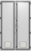 ZPAS WZ-6282-87-01-011 Дверь двустворчатая с вентиляционными отверстиями (левая) 2200 x 1200 мм, серая (RAL