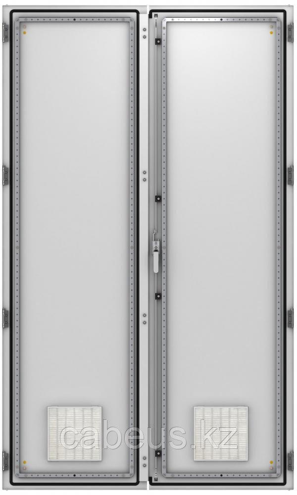ZPAS WZ-6282-85-05-011 Дверь двустворчатая с вентиляционными отверстиями (правая) 1800 x 1200 мм, серая (RAL