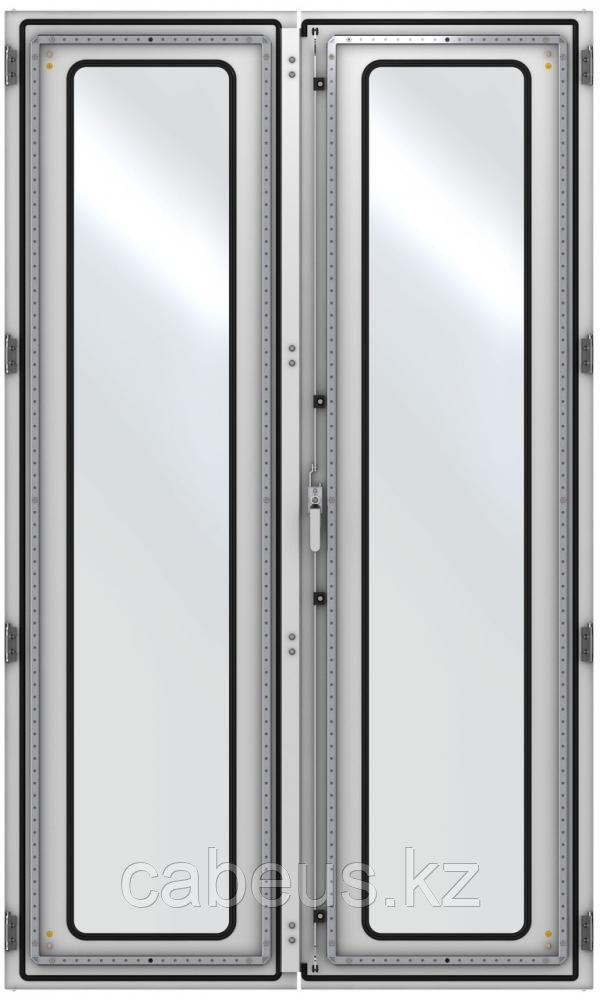 ZPAS WZ-6282-83-01-011 Дверь стеклянная, двустворчатая (правая) 2200 x 1200 мм, серая (RAL 7035)