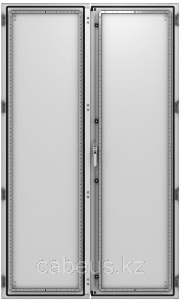ZPAS WZ-6282-47-01-011 Дверь сплошная, двустворчатая (левая) 2200 x 1200 мм, серая (RAL 7035)