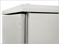 ZPAS WZ-1951-28-14-011 Крыша для шкафов серии SZE2 650x400, с выступающими боковыми стенками, цвет серый (RAL