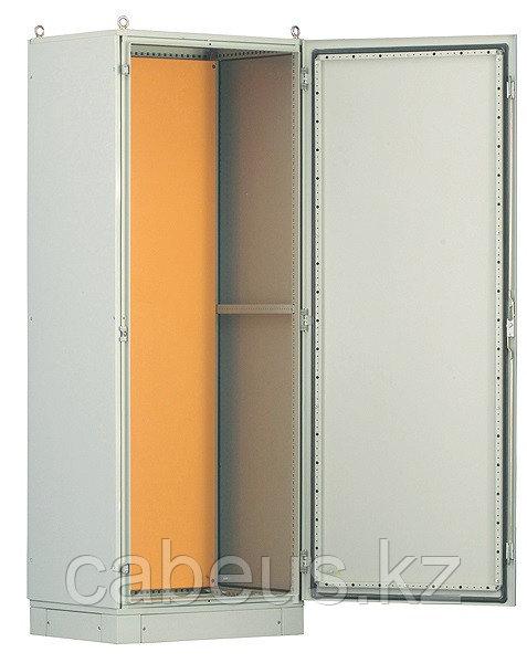 Hyperline TEFL-2264 Шкаф электрич.напольный, 2200х600х400мм (ВхШхГ), стальн.каркас, одностворч.перед.дверь,