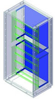 DKC / ДКС 095777850 Комплект для крепления монтажной платы к монтажной раме, Conchiglia, шкаф 715 х 685 х 330